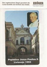 Pape-Johannes Paulus II-carte téléphonique la Lituanie 1993-Emballage d'origine