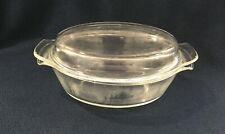 """ANCHOR HOCKING FIRE KING 1.5 QUART CASSEROLE DISH WITH LID / 9"""" X 7"""" X 3""""  GLASS"""