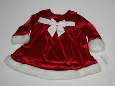 NWT Bonnie Jean Red Velour Sparkle Infant Dress 3-6M Holiday Christmas