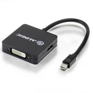 ALOGIC 3 in 1 Mini DisplayPort to DisplayPort HDMI DVI Adapter MDP-DPDVIHD-ADP