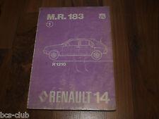 RENAULT 14 R14 Auflage 1976 Motor  Technik Fahrwerk General WERKSTATT HANDBUCH