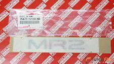 Toyota MR2 1994-1995 Rear Center MR2 Gray Emblem Genuine OEM 75471-17110-B0