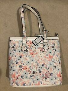 Laura Ashley ivory floral handbag tote bag NEW