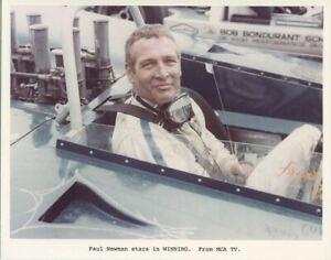 Paul Newman Rare Couleur 8x10 Original Photo Assis En de Course Voiture Winning