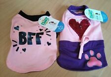 Two Extra Small Dog T Shirts Pink