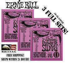 *3 PACKS ERNIE BALL 2620 7-STRING POWER SLINKY ELECTRIC GUITAR STRINGS (3 SETS)*