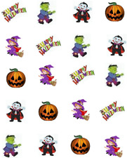 Happy Halloween Cute Waterslide /Water Transfer Nail Decals/Nail art
