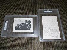 Bill Wyman Rolling Stones Hand Written 1-3-64 Letter & Signed Card PSA Certified