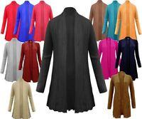 Ladies Women Knitted Long Sleeve Cable Knit Boyfriend Jumper Cardigan Top Dress