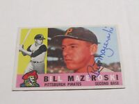 Bill Mazeroski Autographed Baseball Card JSA Auction Certified