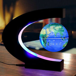Anti Gravity Levitation Globe Magnetic Floating World Map with LED Light 110-220