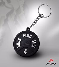 PIMD Plate Weight Fitness Weightlifting Gym CrossFit Keychain Keyring