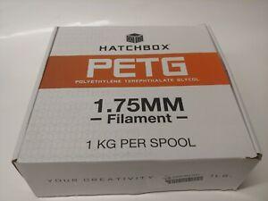 HATCHBOX PETG 3D Printer Filament,1 kg Spool ( Silver) 1.75 mm SEALED
