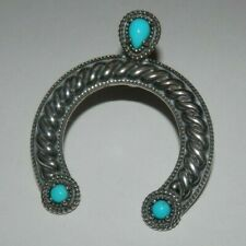 Carolyn Pollack American West Sleeping Beauty Turquoise Naja Pendant Enhancer