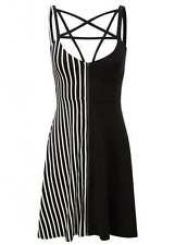 Round Neck Casual Striped Sleeveless Dresses for Women