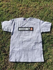"Early 2000s Erick Koston Nike SB ""Just Do It"" Gray Shirt Size Large"
