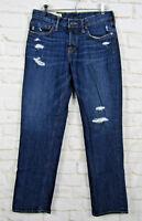 Abercrombie & Fitch Men's Straight Jeans Medium Button Fly 30x30 Denim Dark
