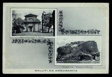 cartolina ABBASANTA vedute - chiesa parrocchiale s. caterina nuraghe losa
