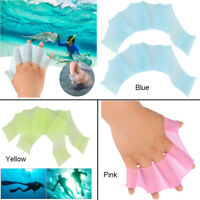 1 Pair Webbed Gloves Finger Swimming Diving Fins Swim Flippers Hand Paddle