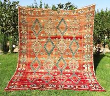 "Moroccan Handmade Rug Azilal Rug Berber Carpet Wool Rug 8'7"" x 7'1"""