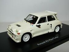 SCHUCO RESIN RENAULT R5 MAXI TURBO PEARL WHITE 1/43 LIMITED EDITION OF 500