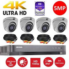 Hikvision CCTV HD1080P 5MP Night Vision Outdoor DVR Home Security System Kit 8CH