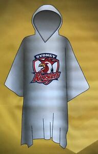 Sydney Roosters NRL Poncho * Plastic Rain Coat with Team Logo