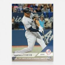 2018 TOPPS NOW 3: GIANCARLO STANTON 2 HRS, 4 RBI IN YANKEES DEBUT
