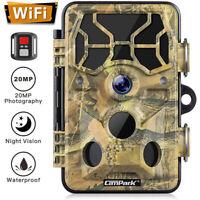 20MP WiFi Trail Camera Campark 1296P Hunting Game Wildlife Camera Night Vision