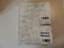Chevy Chevrolet Camaro 1989 Shop Workshop Service manual Werkstatthandbuch