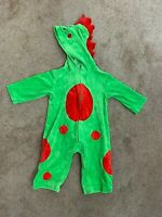 Baby Boy Costume Suit Sz 12M Halloween Dragon Hood Zipper Green