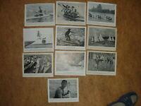 10x Sammelbilder DINA 5: Kanu-Rennsport 1950-1961