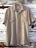 Toes On The Nose Mens XL Shirt Embroidered Button Down Short Sleeves Pinstripe