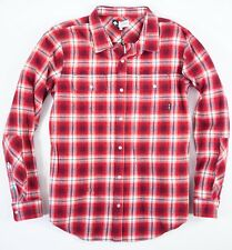 Men's LRG size XL Red Vice Plaid Button Down Flannel Shirt NEW NWT