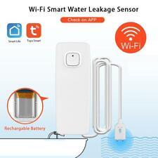 Smart WiFi Water Leak Detector Sensor Home Security Alarm APP Notification Kit