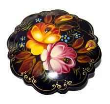 Broche russe Cadeau pour Femme Petit prix Broche fleurs en Papier mâché peint