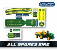 PEG PEREGO JOHN DEERE GROUND FORCE TRACTOR STICKER LABEL SET LOGOS DECALS