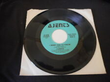 AJENTS - I WANT YOU TO KNOW - CAN'T HOLD ME BACK - 45