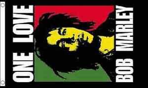 Bob Marley One Love 5x3 Flag