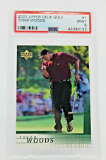 2001 Tiger Woods Rookie PSA Graded 9 UpperDeck PGA Golf