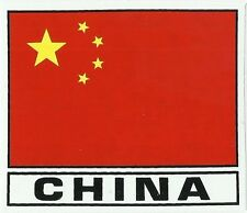 AUTOCOLLANT STICKER DRAPEAU CHINE CHINA DIMENSION 7,6 X 6,5 CM