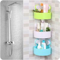 Bathroom Shelf Corner Shower Shelf Rack Bath Storage Plastic Suction Cup New
