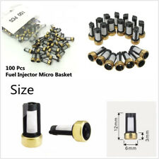 100 Pcs Car Fuel Injector Micro Basket Filters For ASNU03C Injector Repair Kits