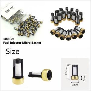 100 Pcs Car Fuel Injector Micro Basket Filters For ASNU03C Injector Repair Kits