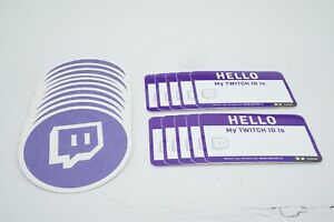 10 Pack Hello, My Twitch ID is Sticker Watch My Stream On www.twitch.tv Glossy