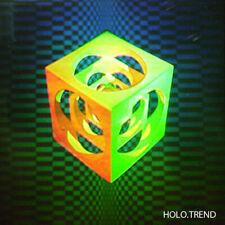 Holographie, Hologramm, 3D Bild, Cube, Würfel, Metallskulptur,Rarität
