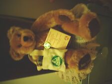 hermann green tag l/e BEAR COLLECTOR WITH MINATURE BEAR IN A BAG