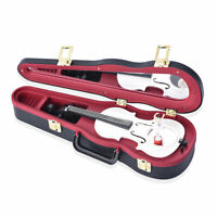 Home Room Office Table Decor Black Red Violoncello Shape Music Box Gifts for Dad