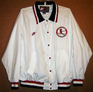 ST. LOUIS CARDINALS COOPERSTOWN COLLECTION WHITE SNAP FRONT JACKET