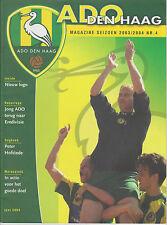 Programme / Magazine ADO Den Haag no.4 seizoen 2003-2004
